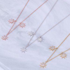 Henri Bendel Sun Star Pendant Clavicle Necklace